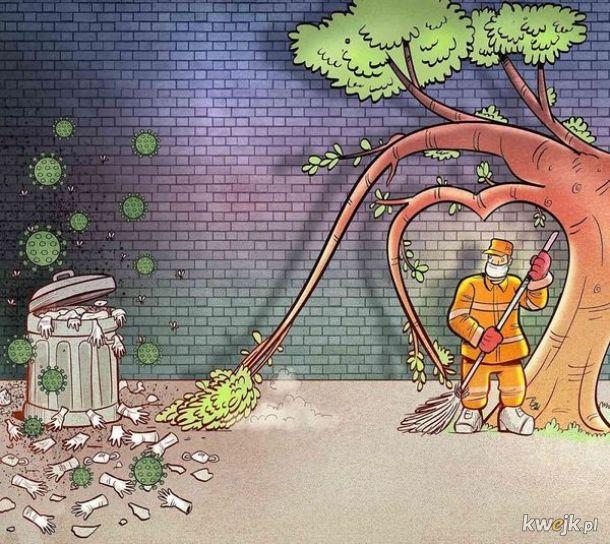 Irański artysta Alireza Pakdel przedstawia grafiki, które oddają hołd służbom walczącym z koronawirusem, obrazek 17