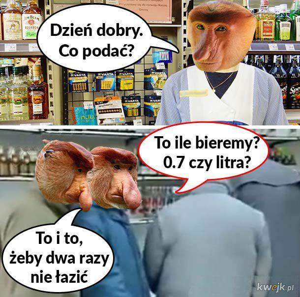 Janusz ze śwagrem w sklepie