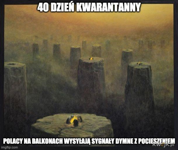 Pewien internauta przerabia obrazy Beksińskiego na memy o koronawirusie, obrazek 15