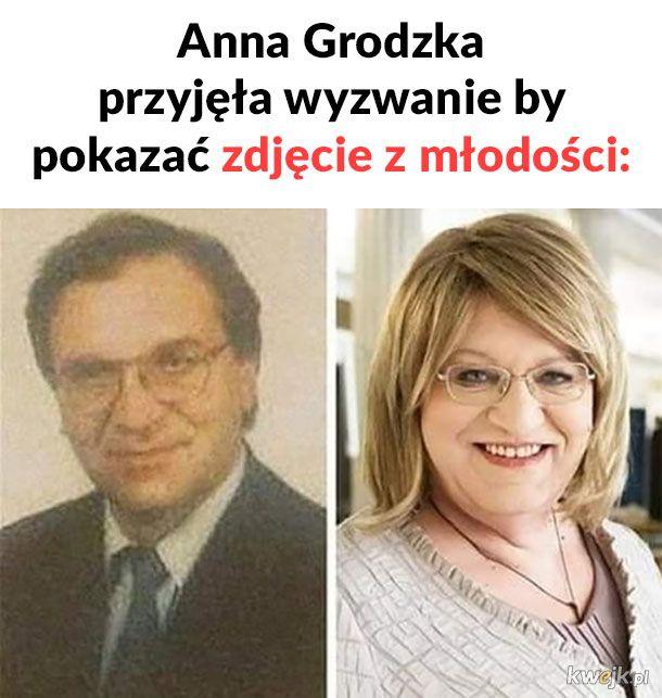 Anna Grodzka w młodości