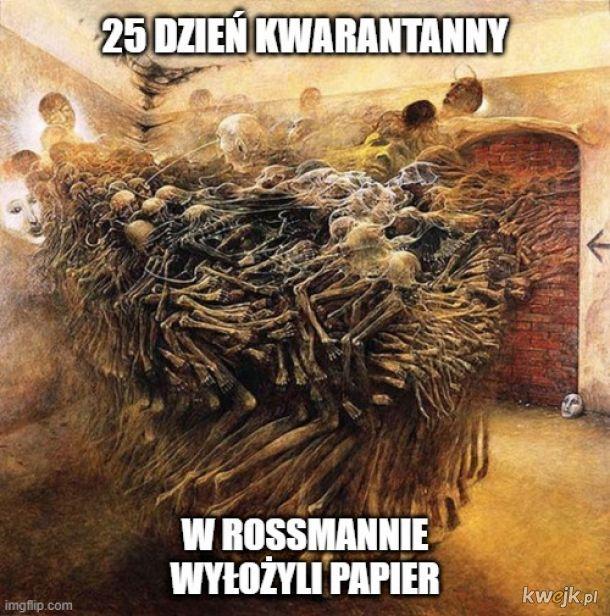 Pewien internauta przerabia obrazy Beksińskiego na memy o koronawirusie, obrazek 2