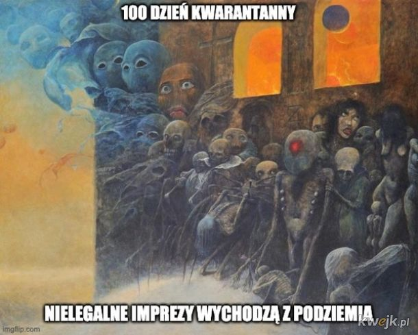 Pewien internauta przerabia obrazy Beksińskiego na memy o koronawirusie, obrazek 14