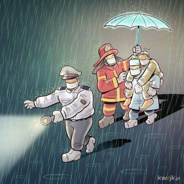 Irański artysta Alireza Pakdel przedstawia grafiki, które oddają hołd służbom walczącym z koronawirusem, obrazek 9