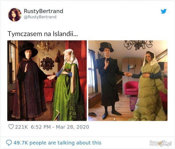 Ludzie na Twitterze z nudów odtwarzają słynne obrazy