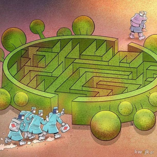 Irański artysta Alireza Pakdel przedstawia grafiki, które oddają hołd służbom walczącym z koronawirusem, obrazek 7