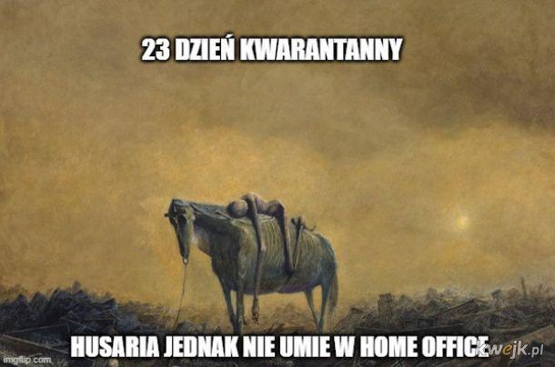 Pewien internauta przerabia obrazy Beksińskiego na memy o koronawirusie, obrazek 7