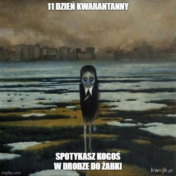Pewien internauta przerabia obrazy Beksińskiego na memy o koronawirusie, obrazek 10