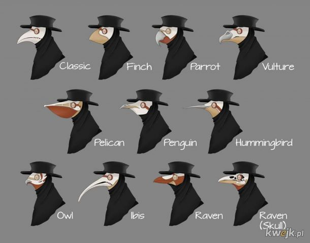 Maska zarazy, kolekcja 1347-2020