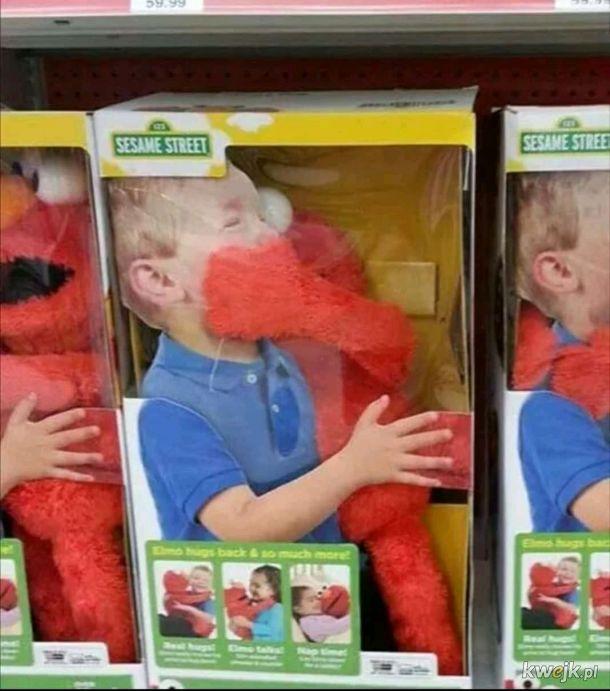 Elmo uwielbia się przytulać
