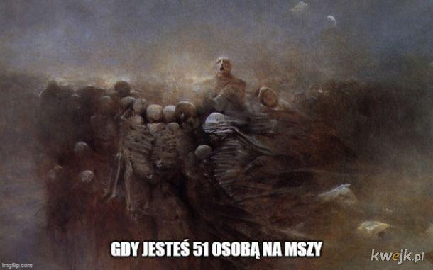 Pewien internauta przerabia obrazy Beksińskiego na memy o koronawirusie, obrazek 13
