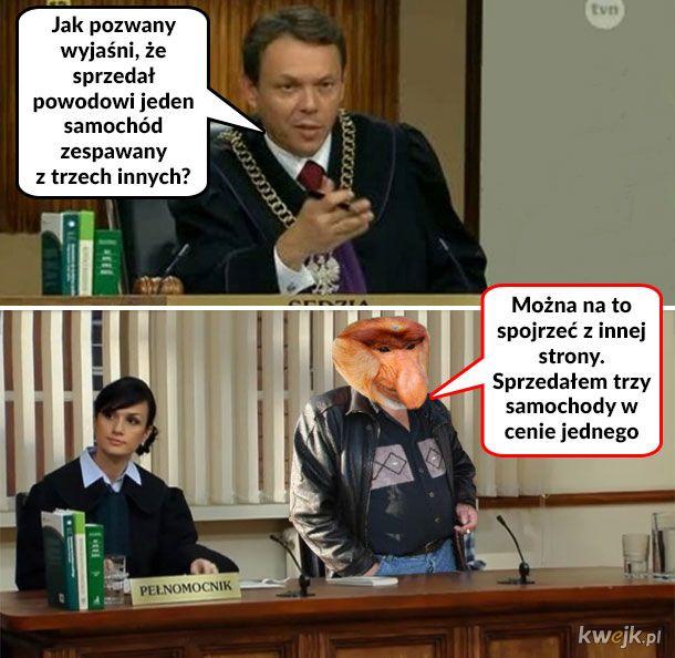 Janusz handlarz w sądzie