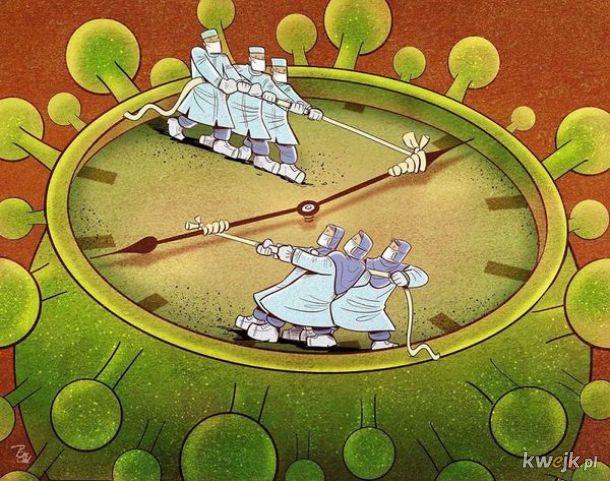 Irański artysta Alireza Pakdel przedstawia grafiki, które oddają hołd służbom walczącym z koronawirusem, obrazek 19