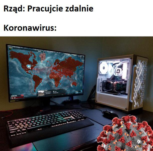 Koronawirus też człowiek