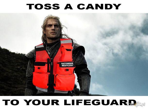 Toss a candy