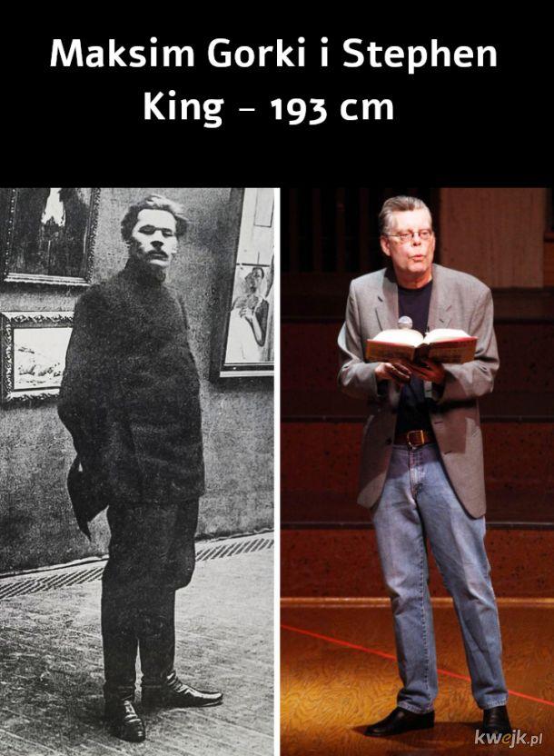 Znani ludzie z różnych epok i ich wzrost