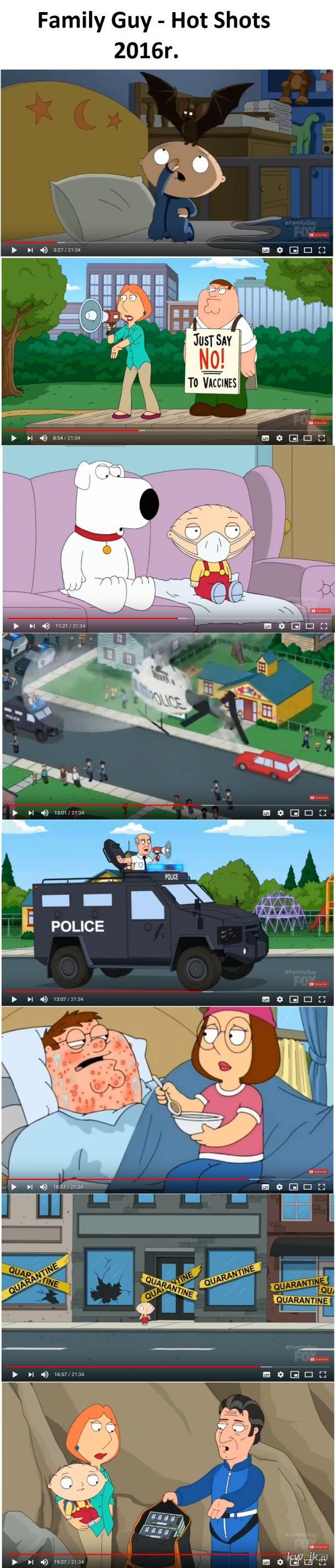 Family Guy przewidziało