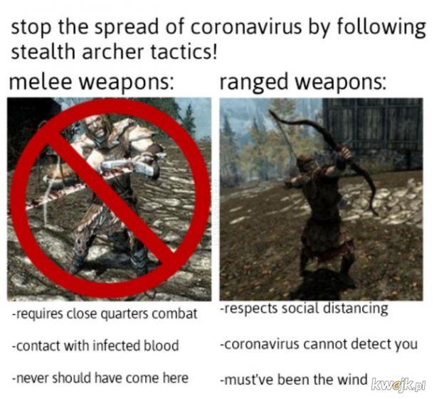 Koronawirus już w Skyrim!