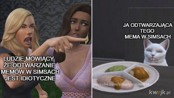 odtwarzanie memów w simsach