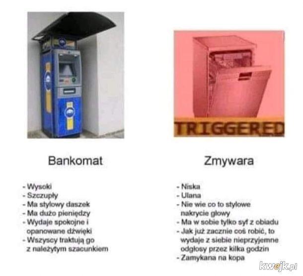 Bankomat vs zmywarka