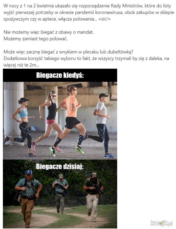 jogging polowanie rząd ustawa koronawirus