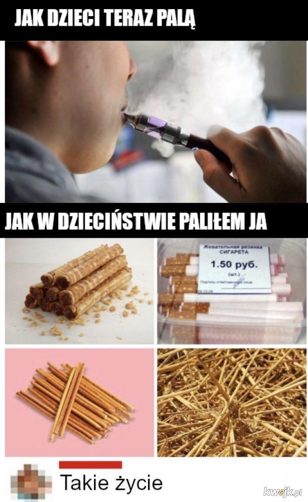 Palenie kiedys i dzis