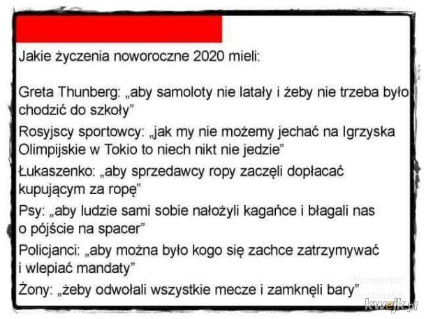 Lista życzeń na nowy 2020