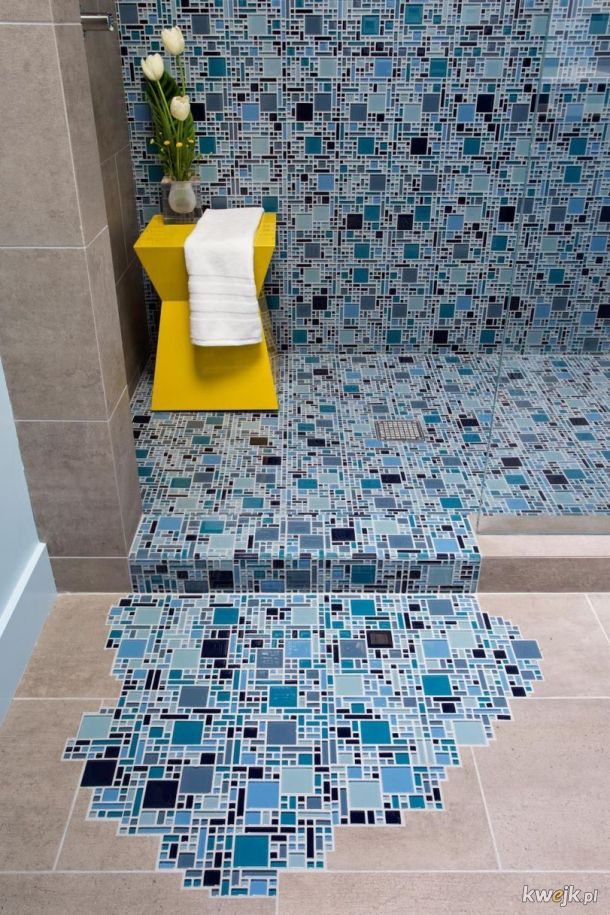 Pod prysznicem - design