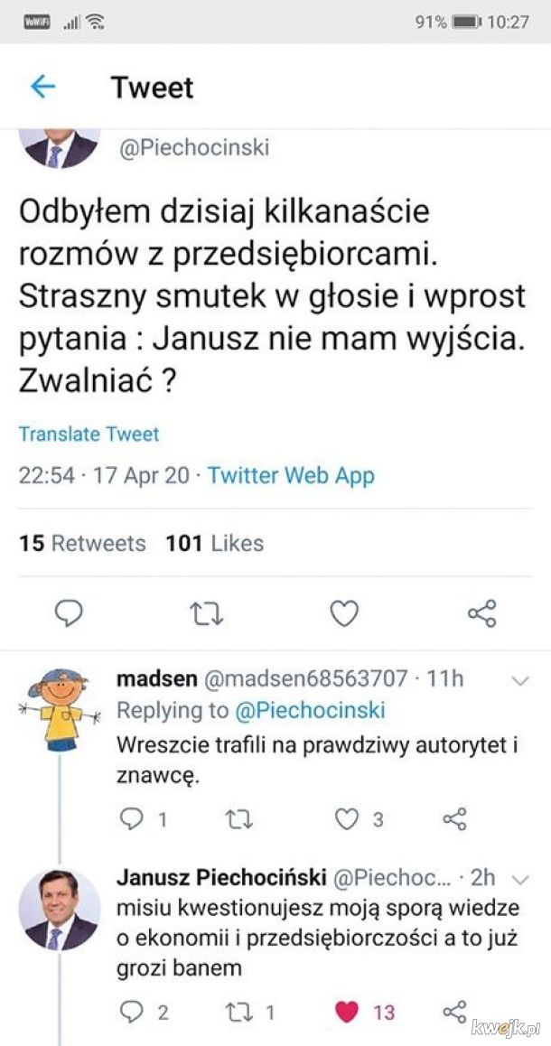 Janusz banuje