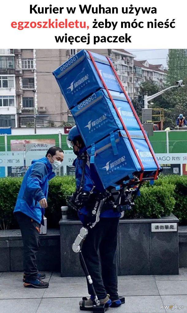 Kurier w Wuhan