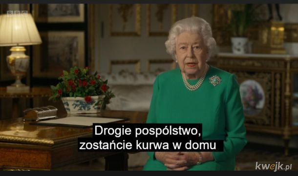 Królowa przemówiła do poddanych