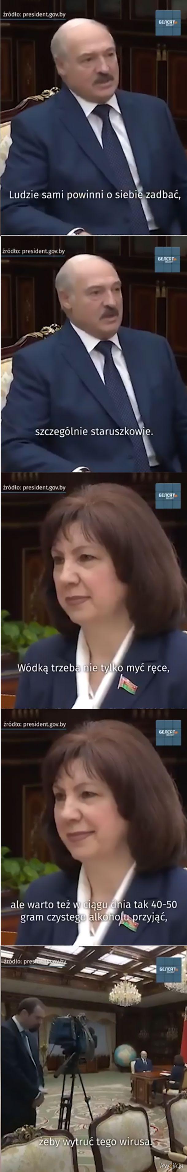 Łukaszenka wynalazł lekarstwo:)