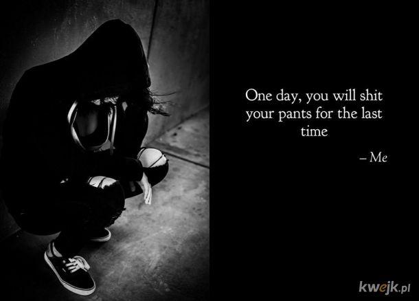 Smutna prawda, o tym jak czas szybko mija i, że życie choć piękne tak kruche jest