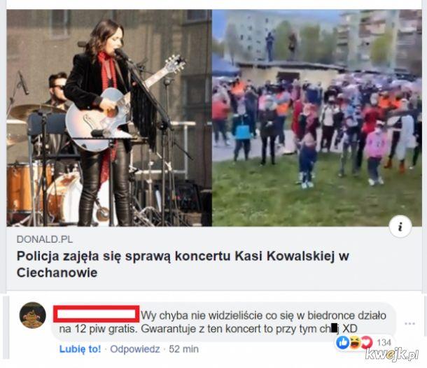 Nielegalny koncert w Ciechanowie