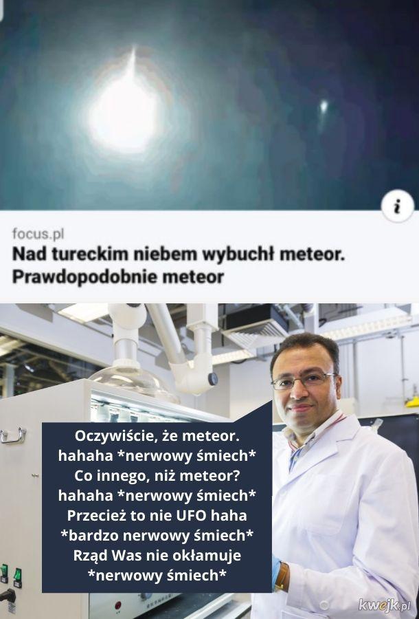 Meteor. Prawdopodobnie meteor.