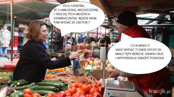 Na bazarku najlepsze warzywka i owocki prosto od rolników i tanio