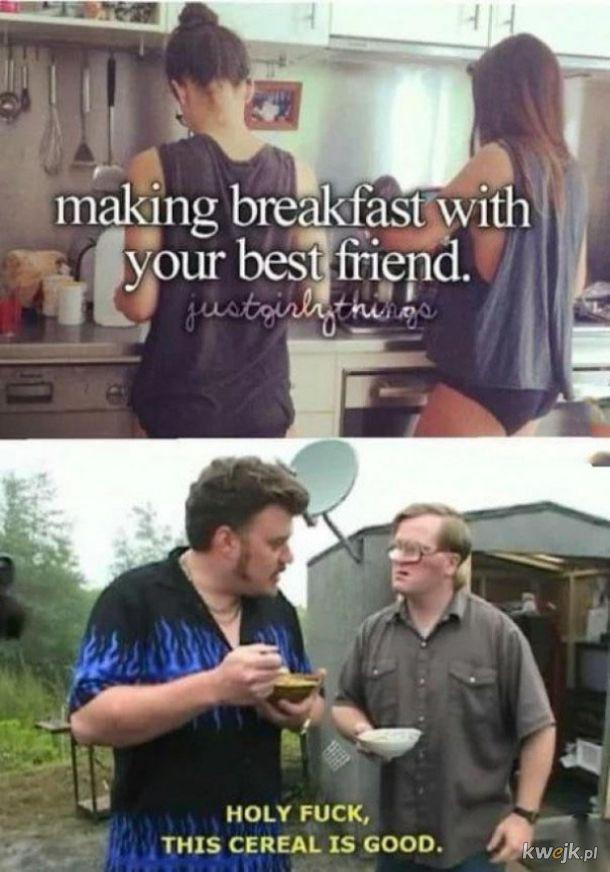 Śniadanie z przyjacielem