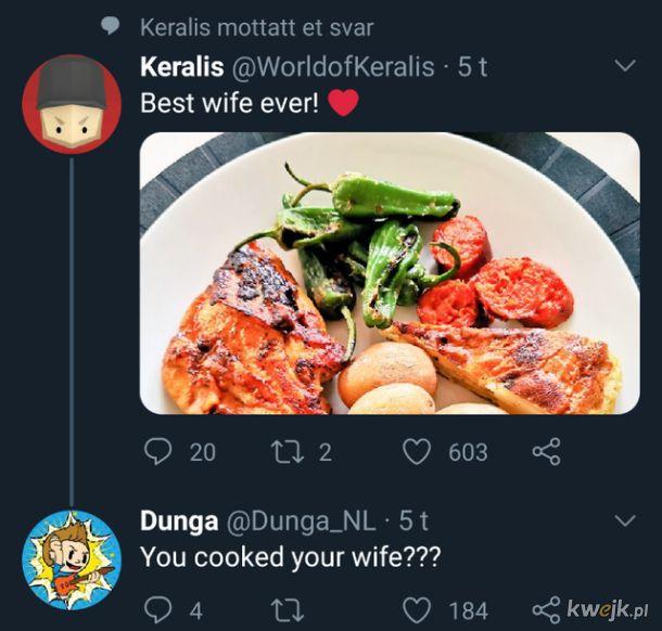 Nie ma to jak posiłek z żoną