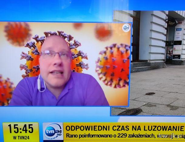 Ekskluziw interwju z człowiekiem-koronawirusem