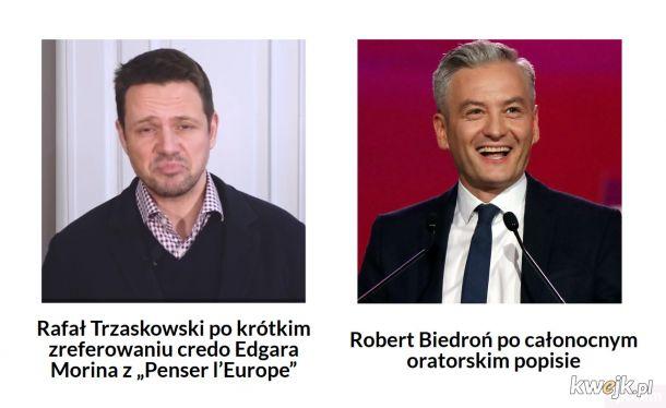 Biedroń lepszy niż Trzaskowski