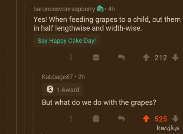 Co robić z winogronami?