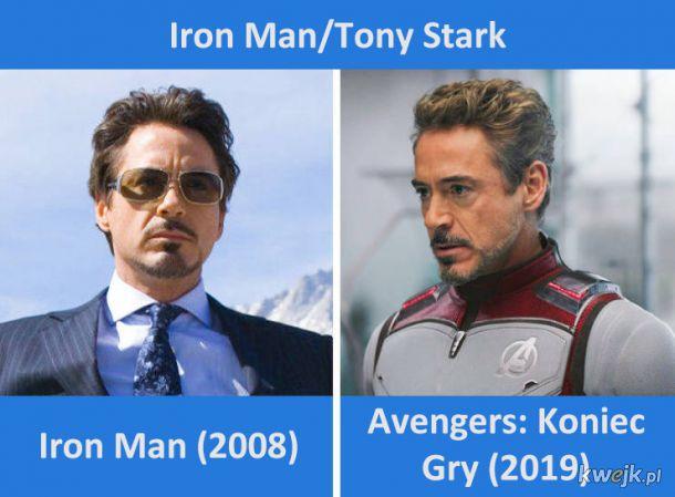 Avengersi w swoich pierwszych i ostatnich filmach