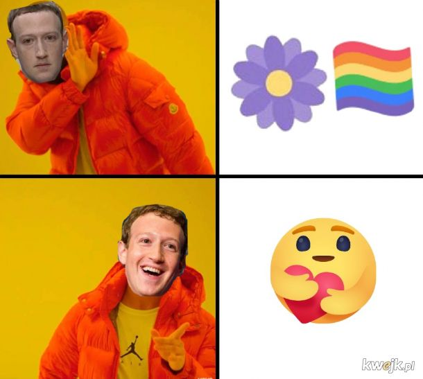 New reactions in Facebook