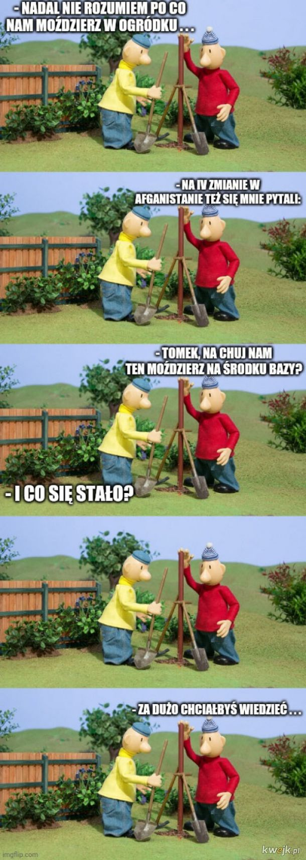 Moździerz w ogródku