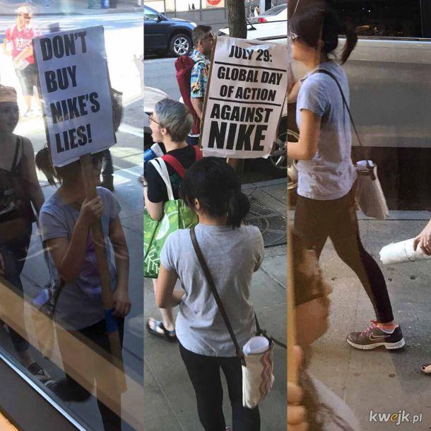 Bojkotuje nike w butach nike