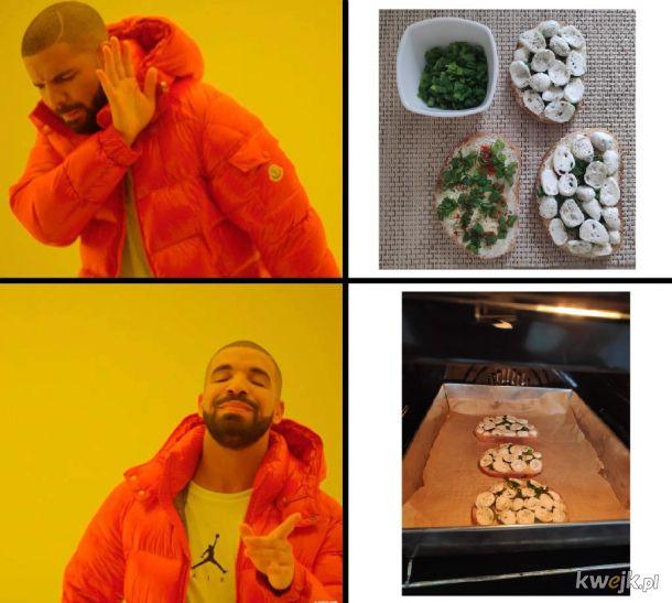 Kanapki z mozzarella i szczypiorkiem