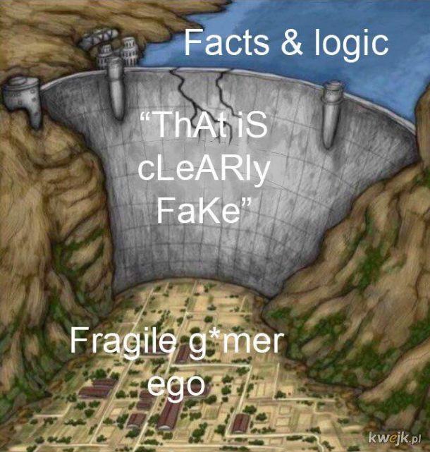 Fakty i logika najgorszy koszmar g*acza