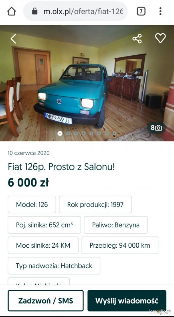 Fiat z salonu