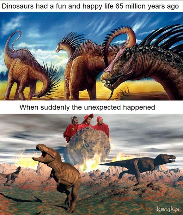 Dinozaury na pewno nie mogły się tego spodziewać