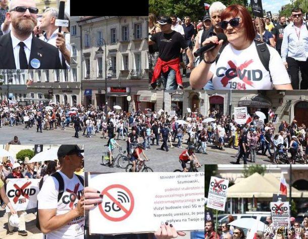 Braun uczestniczył w marszu antyszczepionkowców