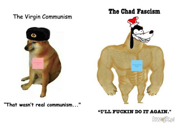 Virgin Communism vs Chad Fascism